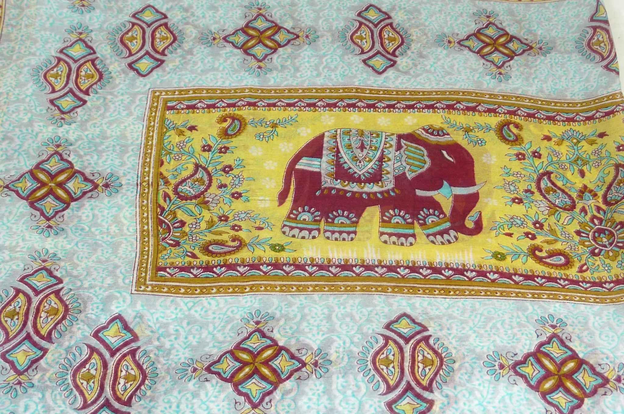 Mulberry Silk Traditional Long Scarf Vish Caramel by Pashmina & Silk