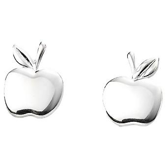 Beginnings Apple Stud Earrings - Silver