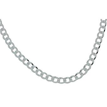 """TOC 29 Grams Sterling Silver Gents 18 Inch Open Flat Diamond Cut Curb Necklace """"Hand Finished"""""""