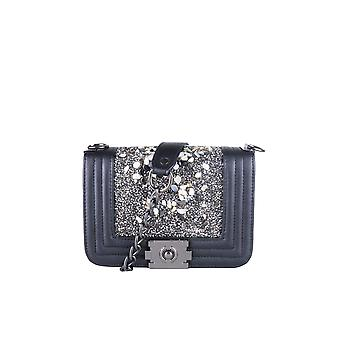 LMS Black Handbag With Stone Embellishments