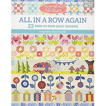 Moda All-Stars - All in a Row�Again: 23 Row-By-Row Quilt�Designs