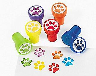 24 Paw Print Self Inking Stampers for Kids - Party Bag Fillers | Kids Crafts