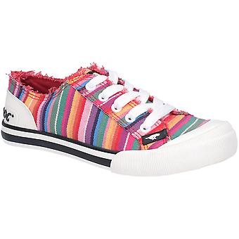 Rocket Dog Womens Jazzin Eden Stripe Lace Up strand pompen