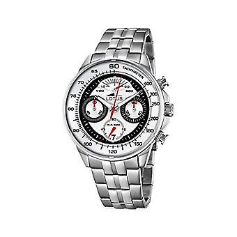 Lotus-Quarz-Armbanduhr aus Edelstahl 10129/1