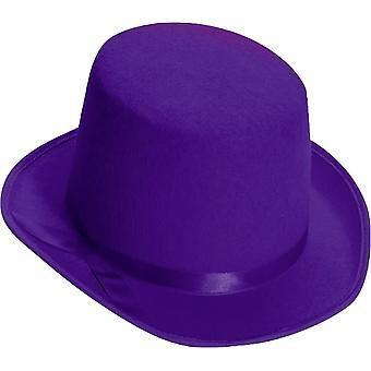 Hoge hoed voor volwassenen paars