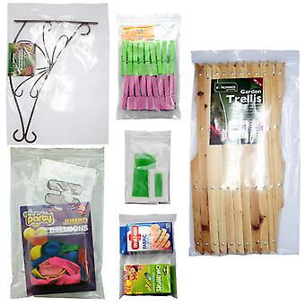 Simply Direct Clear Grip Seal Plastic Poly Press & Seal Bags (GL20 - GL70) - Assorted Sizes & Quantities