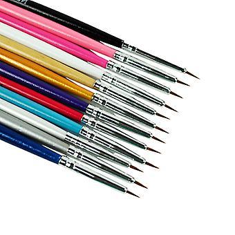 12pcs cepillos de uñas para el arte de uñas