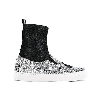 Chiara Ferragni Cf2094 Femmes-apos;s Silver Glitter Slip On Sneakers