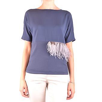 Fabiana Filippi Ezbc055027 Women's Blue Cotton Top
