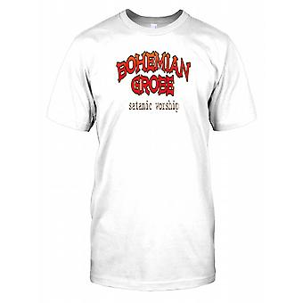 Czeski Grobe kultu szatana - spisek męskie T Shirt