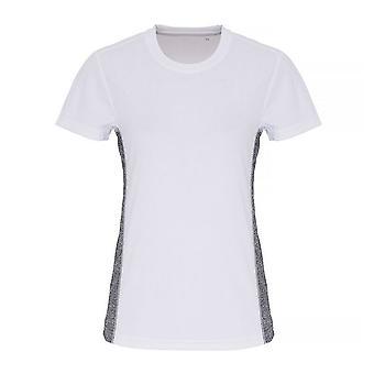 TriDri Womens/Ladies Contrast Panel Performance T-Shirt