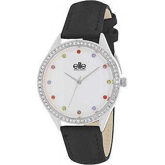Elite E55072-203 - watch leather black woman