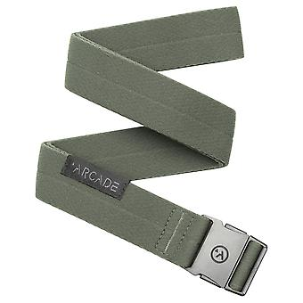 Arcade Ranger Slim Webbing Belt in Ivy Green