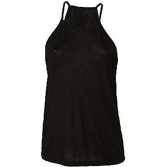 Cotton Addict Womens/Ladies Flowy High Neck Tank Top Vest