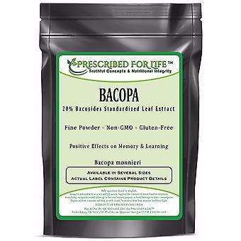 Bacopa - 20% Bacosides - Poudre d'extrait de feuille naturelle (Bacopa monnieri)