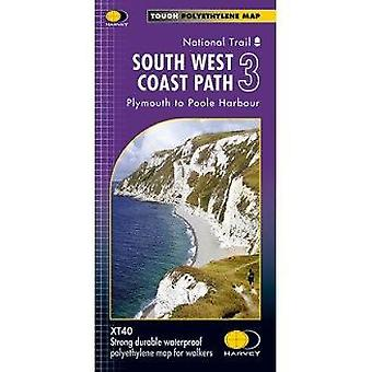 South West Coast Path 3 XT40 - Plymouth to Poole Harbour - 97818513755
