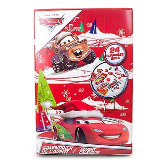 Disney Cars Christmas Advent Calendar with 24 Surprises Red 1 Size (CDIC086)