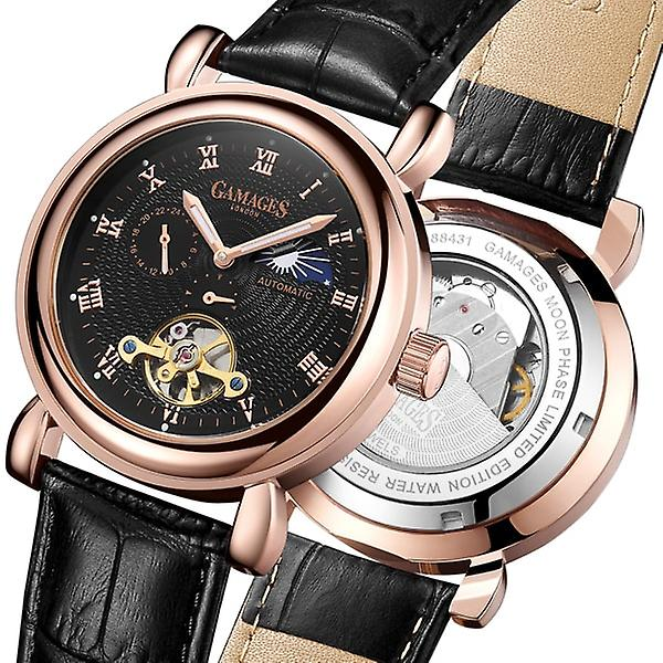 Gamages Of London Limited Edition Hand Assembled Moon Phase Automatic Rose