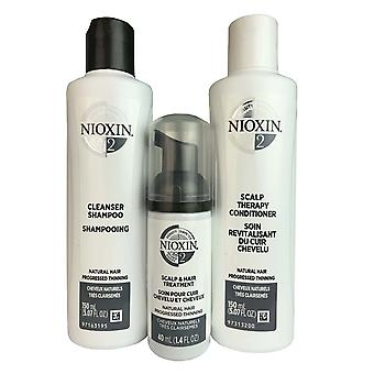 Nioxin system #2 hair trial kit cleanser scalp therapy scalp treatment 5.07 oz
