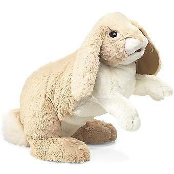 Hand Puppet - Folkmanis - Rabbit Floppy Bunny New Animals Soft Doll Plush 2838