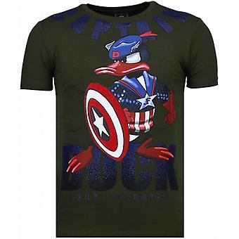 Captain Duck-Rhinestone T-shirt-Green