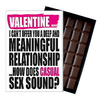 Funny Valentine?s Day Gift A Rude Naughty Present for Women Chocolate Card IYF134