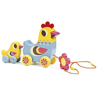 Vilac The Hen and the Chick Pull Along Musical Toy