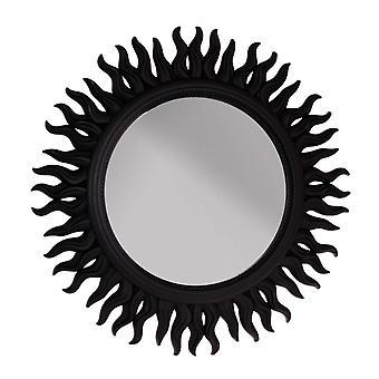 Spiegel Wand Sonne Schwarz 53 cm