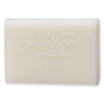 Florex Vegan Vegetable Oil Soap - Soy Milk - Creamy Oils Pamper and Care for The Skin 100 g