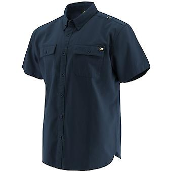 Caterpillar Unisex Button Up S/S Paita Navy