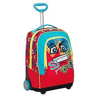 Big Trolley SJ FACE BOY - Red - 33 Lt - 2in1 Return Shoulder Backpack - School & Travel