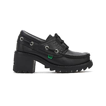 Kickers Klio Ghillie Youth Black Shoes