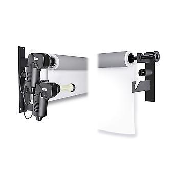 BRESSER MB-2Y Montaggio a parete elettrico per 2 rotoli di sfondo su carta