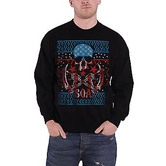 Sons Of Anarchy Christmas Jumper Sweatshirt Reaper new Official Mens Black
