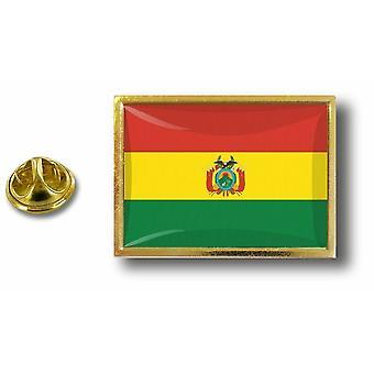 باين بينس شارة دبوس أبوس؛ معدن مع فرشاة العلم بوليفيا بوليفيا