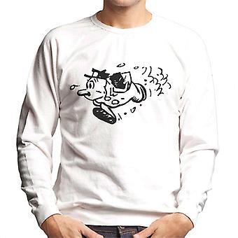 Krazy Kat Officer Bull Pupp Running Men's Sweatshirt
