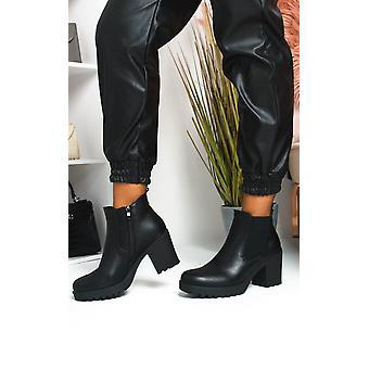 IKRUSH Womens Niccy Heeled Chelsea Boots