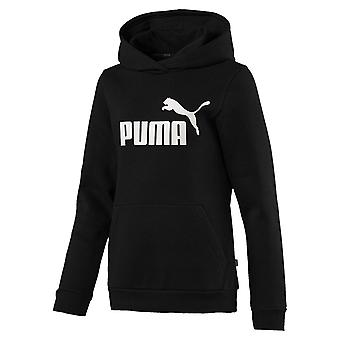 Puma Essentials Logo Kids Girls Over The Head Hoody Hoodie Jacket Black