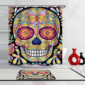 Psychedelic Colorful Skull Shower Curtain