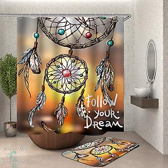 Dream Catcher Quote Shower Curtain