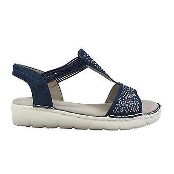 Ara Koriska-Sport 57203-02 Blue Womens T Bar Slip On Sandals