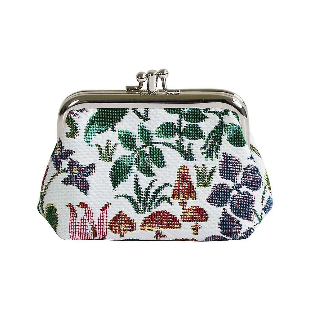 Voysey - spring flowers coin purse by signare tapestry / frmp-spfl