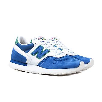 New Balance M770 Made in England 'Cumbrian Flag' White & Blue Suede Trainers