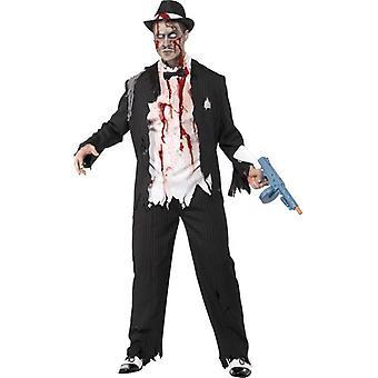 "Zombie Gangster Costume, Chest 42""-44"", Leg Inseam 33"""