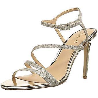 Jewel Badgley Mischka Women's Maddison Sandal, gold glitter, M065 M US