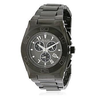 Kenneth Cole KC9300 Homme Homme Acier inoxydable noir 45MM Quartz Quartz Analogue Chronograph Watch