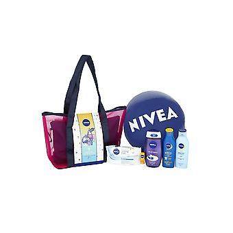 Nivea Sun Sea and Me Set - Body Wash 250ml After Sun, Sun Tan 200ml SPF30, Baume à lèvres