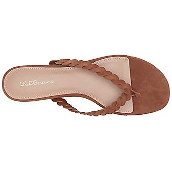 BCBGeneration Women's Gabriela Flip-Flop, Chocolate Suede, 6.5 M US