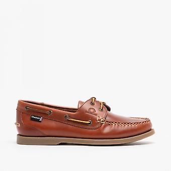 Chatham Deck G2 Mens Nubuck Leather Boat Shoes Chestnut