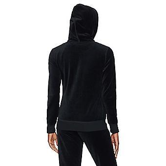 Starter Women's Velour Track Jacket with Hood,  Exclusive, Black, Medium